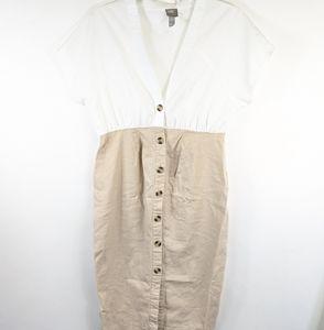 ASOS linen blend button down dress